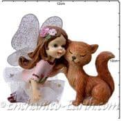 Flower Fairy -  Rose with Fox  - 10cm