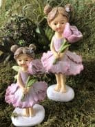 Flower Fairy with Flower - Rose - Two sizes to choose from