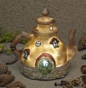Garden Glows Solar LED Fairy House- Tea Pot Cottage-Home of Rain Pepperfilter- GL00600
