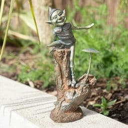 Garden Pixie - Bronze Effect - 28cm.
