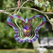 Gazing Butterfly  Hanging Wind Spinner  - 12""