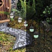 Georgetown Fiddlehead -Fairy Garden Glowing Acorn Path Lights