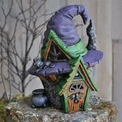 Georgetown Fiddlehead Fairy House - The Crooked Witches Hat Cottage