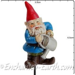 Georgetown -Fiddlehead - Gnomes on Stakes - Brolin with watering can - 6.5cm.