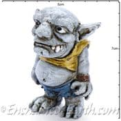 Georgetown - Fiddlehead - Large Gribby The Troll with stake - 7cm-