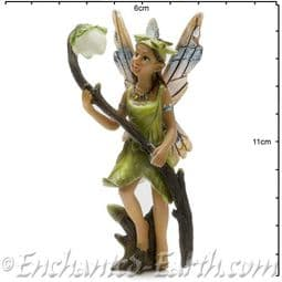 Georgetown - Fiddlehead - Large Woodland Fairy with Glow in the Dark Blossom - Larkspur - 10cm.