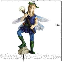Georgetown - Fiddlehead - Large Woodland Fairy with Glow in the Dark Orb - Lance - 10cm.