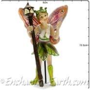 Georgetown - Fiddlehead - Large Woodland Fairy with Glow in the Dark Staff - Foxglove - 10cm