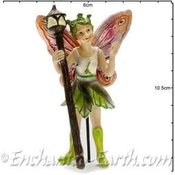 Georgetown - Fiddlehead - Large Woodland Fairy with Glow in the Dark Staff - Foxglove - 10cm.