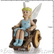 Georgetown - Fiddlehead - Large Woodland Fairy with WheelChair - 6.5cm