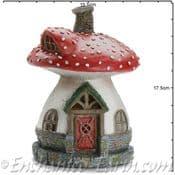 Georgetown Fiddlehead - Muscaria fairy toadstool house - 18cm