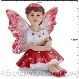 Georgetown -Fiddlehead - Mushroom Fairy - Dottie - 4cm.