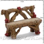 Georgetown Fiddlehead - Mushroom Log Bench - 7cm