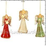 Gisela Graham - Ceramic Angels Bells - 13.5cm