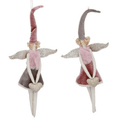 Gisela Graham - Large Two-Tone - Soft fabric Fairies - 2 to choose from - 30cm