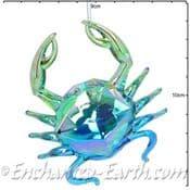 Gisela Graham - Magical Under The Sea Decorations -Acrylic Iridescent Crab