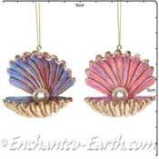 Gisela Graham - Magical Under The Sea Decorations - Golden  Clam Shell