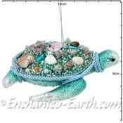 Gisela Graham - Magical Under The Sea Decorations - Large Beaded Turtle
