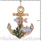Gisela Graham - Magical Under The Sea Decorations - Ships Anchor