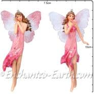 Gisela Graham - Pastel Pink Winter Fairies - Two to choose from - 14cm
