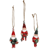 Gisela Graham - Set of 3 Christmas Gnomes