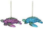 Gisela Graham - underwater city of Atlantis - Metallic Turtle - Two to choice from