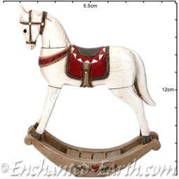 Gisela Graham -  Vintage Rocking Horse - 19cm.