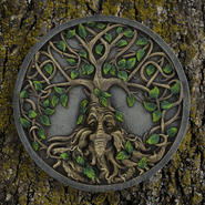 Greenman Tree Ent - Wall Plaque - 18cm