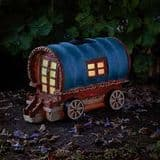 Gypsy Rose Caravan - Solar - LED Colour changing Fairy House