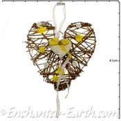 Hand crafted Rustic Wooden Heart - 22.5cm
