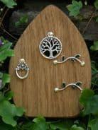 Hand made  - Tree of Life - Oak  Fairy Door - 10cm