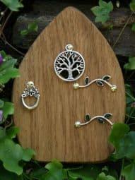 Hand made  - Tree of Life - Oak  Fairy Door - 10cm.