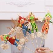 Handmade  Miniature  Scarecrow - 34cm tall