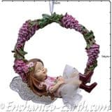 Hanging Wreath Fairy -  Wisteria Fairy - 13.5cm