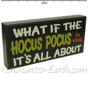 Hocus Pocus - Wooden Witches Sign/Plaque