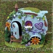 Home is where you park it - Blue Fairy Caravan - 16cm