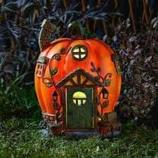 Humpkins - Solar - LED Colour changing Fairy House.
