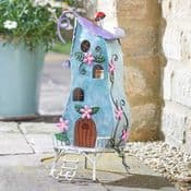 Large 33cm - Colourful Metal Fairy House - The Pixie Palace