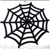 Large Back Felt Spider Web