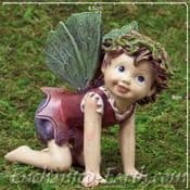 Large  Cute Baby Fairy - The Crawling Fairy - 6cm long