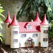 Large Elvedon Manor House - Solar - LED Colour changing Fairy House