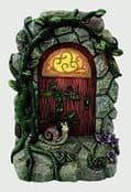 Large  Garden  Solar Fairy Door - with Cute Snail -  19cm