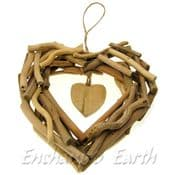 Large Hand made  Driftwood Heart