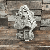 Large handmade stone fairy house  - Country Cottage - 34cm