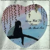 Large heart shaped plaque - Away with the Fairies  -  17cm