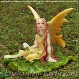Large Lemon Leaf Fairy - 10cm.