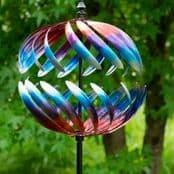 Large  Metallic Globe - Garden Wind Spinner