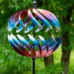 Large  Garden Globe Wind Spinner.