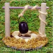 Large Water Well - Miniature Garden  Natural Witches Well