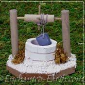 Large Water Well - Miniature Garden  White Brick Well